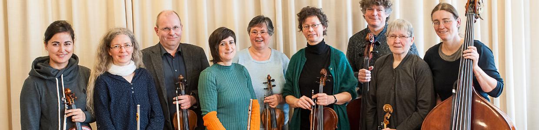 Musiker Gruppe stehend
